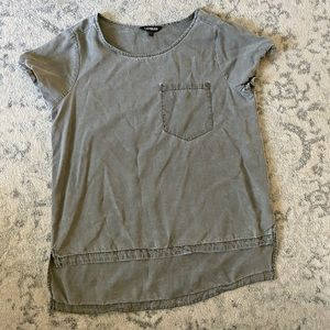Express short sleeve distressed top
